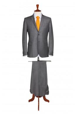 Costum barbati business gri inchis 819