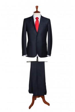 Costum barbati business bleumarin inchis 825