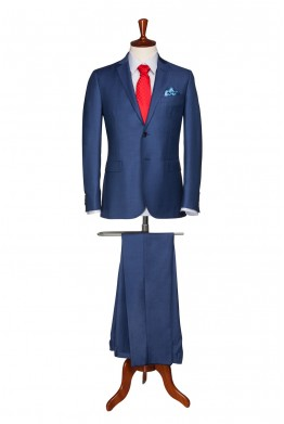 Costum barbati business albastru gri 827