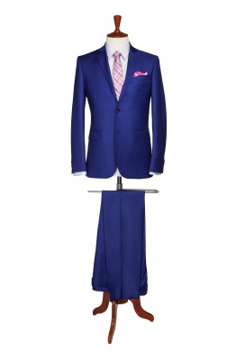 Costum barbati business albastru 835