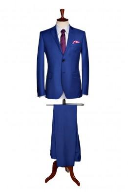 Costum barbati business albastru indigo 834
